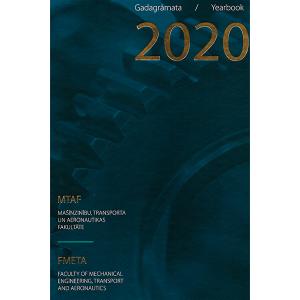 Izdevuma RTU Mašīnzinību, transporta un aeronautikas fakultātes gadagrāmata 2020 vāks