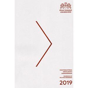 Izdevuma RTU Doktorantūras absolventu Gadagrāmata 2019 vāks