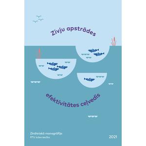 """Zinātniskās monogrāfijas """"Zivju apstrādes efektivitātes ceļvedis"""" vāks"""