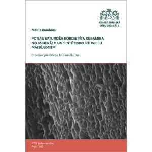 """Summary of the Doctoral Thesis """"Poras saturoša kordierīta keramika no minerālo un sintētisko izejvielu maisījumiem"""" cover"""
