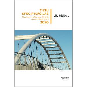 """Rokasgrāmatas """"Tiltu specifikācijas 2020"""" vāks"""